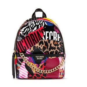 Victoria's Secret Mixed Print Small City Backpack